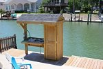 Fish cleaning stand with power and water