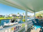 Enjoy gorgeous views and relaxing canal breezes from the deck