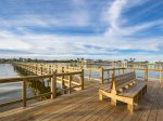 Enjoy fishing and bird watching from the Sailhouse pier
