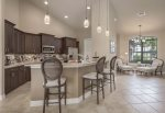 The master bathroom definitely has the wow factor. Walk around shower, dual sinks, soaking tub as well as separate toilet
