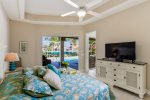 Master Bedroom with access to pool and pool view