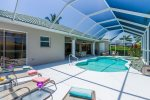 White Sands Pool Area with slider from 2nd bedroom