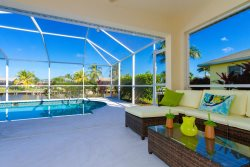 Magnolia, 3 bedroom, 2 bath gulf access, with pool in SW Cape Coral