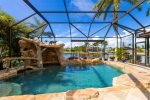 Tropical swimming pool with grotto