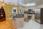 Sunset Point  fully equipped kitchen with bar stools great for entertainment