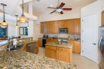Villa Monica Kitchen with great kitchen island and plenty of prep. space