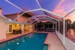 Western facing pool area with breathtaking sunsets