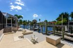 Large captains walk as well as two boat lifts are featured with this property