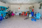 Kayaks, bikes, beach chairs, beach wagon,fishing rods are provided for tenant