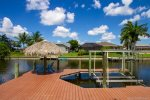Private Wrap Around Boat Dock with Tiki Hut