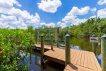 Your private boat dock. Watch for manatees