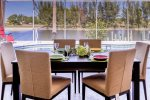 Dining table with a view on the lanai
