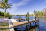Large dock for fishing and relaxing is available
