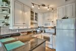 Light bright kitchen. You can be coking and see the Gulf