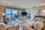 Living Area opens up to Gulf Views