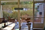 screened porch view to pool