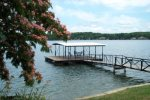 Private Swim Dock with Ladder and Patio Seating for 4.  Overlooks the Gravois Arm with Deep Water and Great Fishing