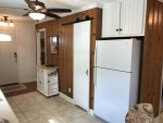 Pantry and Rolling Cart Side of Kitchen, Refrigerator with Ice Maker