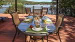 Spend time on the deck sitting in this patio set seats 6 and watch the family enjoy their stay.