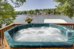 Come on In and Relax in the Hot Tub that Overlooks the Lake.