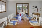 Another shot of the dining area and lake views out the picture window.