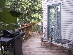 Lakefront wrapped deck with Gas Grill off Kitchen slider
