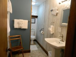 One of two bathrooms in the home