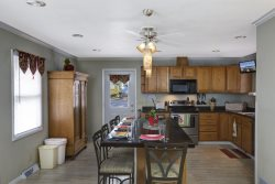 Great L-Shaped Kitchen with Stainless Appliances and Seating for Five - Addl Seating in Sunroom