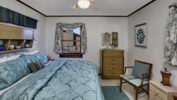 Nice Sized Lakefront Master Bedroom with King Size Bed