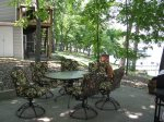 Great Shaded Outside Patio Seating for 4 with Chiminea and Gas Grill.  Overlooks the Lake