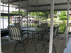 Oversized dock covered patio area - perfect for hanging out.