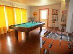 Foosball and Pool Tables in Game Room