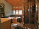Glass Shower Walls in Bathroom