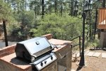 Gas Grill Near Kitchen Porch