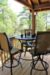 Kitchen Porch with Tall Patio Table and Chairs - Forest Views