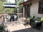 Front Deck with Covered Dinette Set and Patio Set