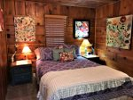 Queen Bedroom with Knotty Pine