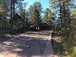 Front Driveway up to the Cottage and Chalet