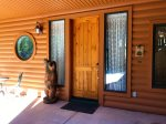 Front Door with the Welcome Bear