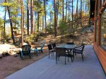 Large Patio Set with Forest Views and Firepit