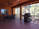 Rear Deck with Table, 6 Chairs and Gas Grill