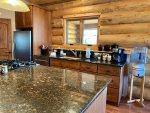 Large, Granite Island with Gas Cooktop