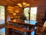 Dining Table with Log Table and Chairs