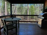 Dining Table on Wraparound with Views of Forest