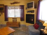 Gas Fireplace and satTV/DVD