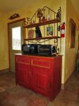Kitchen Sideboard with Microwave and Toaster Oven