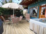 Liberty Suite Deck with Hot Tub and 5 Chair Patio Set