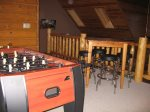 Upstairs Loft with Game Table and Foosball Table