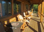 East Facing Deck with Lodgepole Furniture and Amazing Views