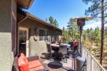 Back Deck Overlooking Forest Valley with Lounge Furniture, Table and BBQ